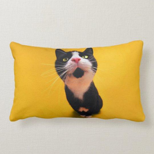 Black and white cat-tuxedo cat-pet kitten-pet cat lumbar pillow