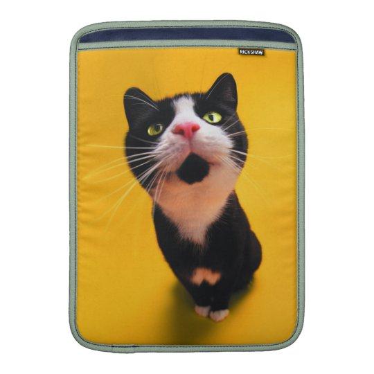 Black and white cat-tuxedo cat-pet kitten-pet cat MacBook air sleeves