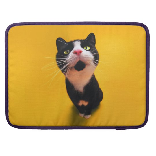 Black and white cat-tuxedo cat-pet kitten-pet cat MacBook pro sleeves