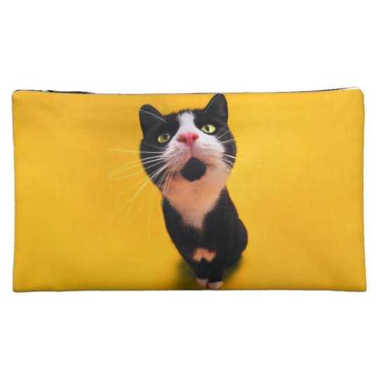 Black and white cat-tuxedo cat-pet kitten-pet cat makeup bag