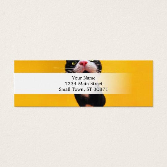 Black and white cat-tuxedo cat-pet kitten-pet cat mini business card