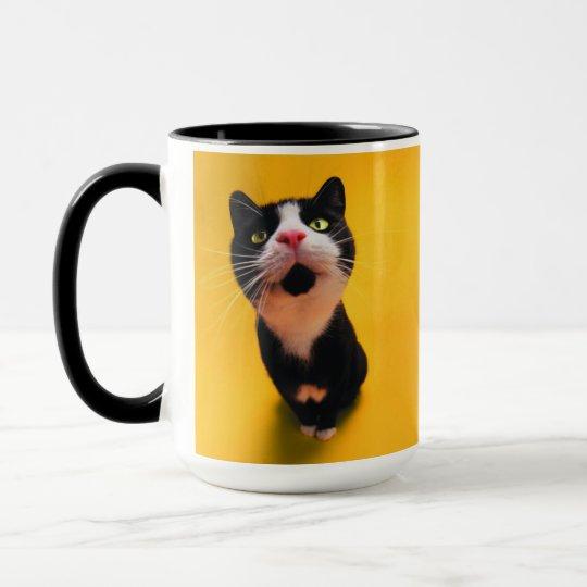 Black and white cat-tuxedo cat-pet kitten-pet cat mug