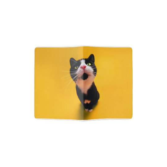 Black and white cat-tuxedo cat-pet kitten-pet cat passport holder