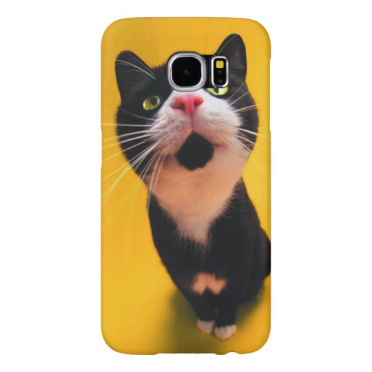 Black and white cat-tuxedo cat-pet kitten-pet cat samsung galaxy s6 cases