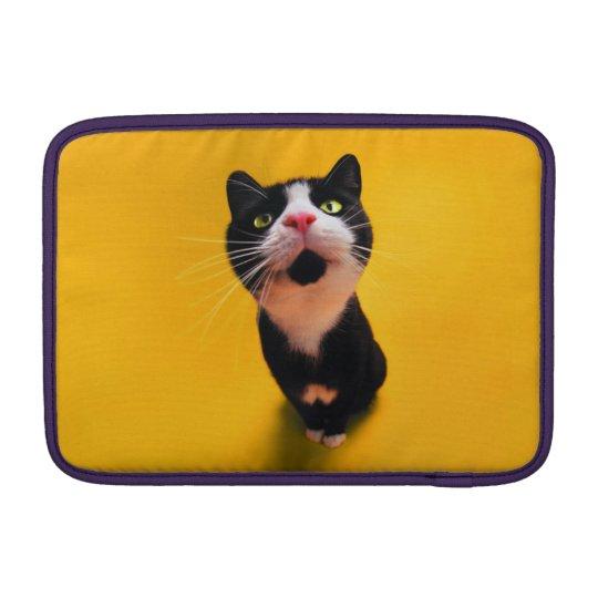 Black and white cat-tuxedo cat-pet kitten-pet cat sleeves for MacBook air