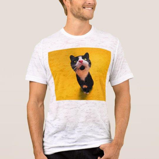 Black and white cat-tuxedo cat-pet kitten-pet cat T-Shirt