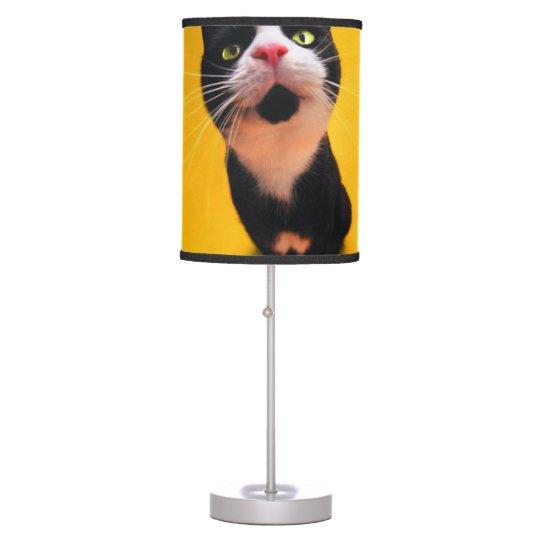 Black and white cat-tuxedo cat-pet kitten-pet cat table lamp