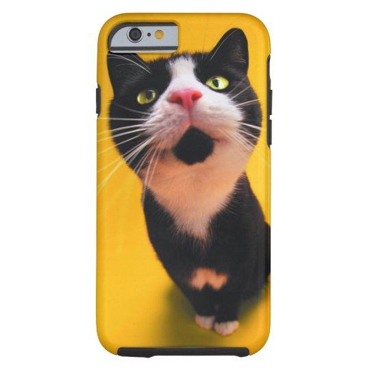 Black and white cat-tuxedo cat-pet kitten-pet cat tough iPhone 6 case