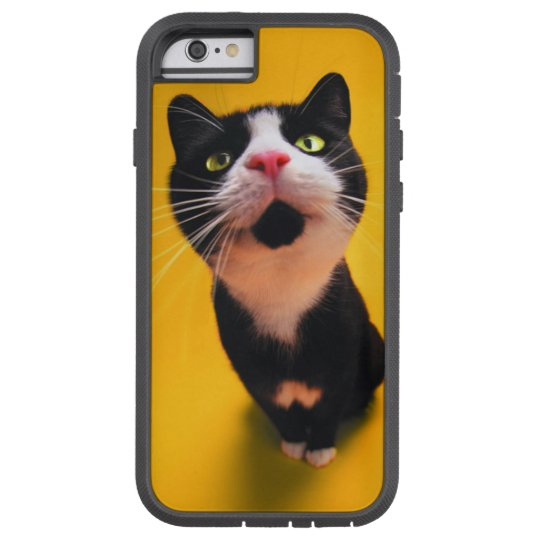 Black and white cat-tuxedo cat-pet kitten-pet cat tough xtreme iPhone 6 case