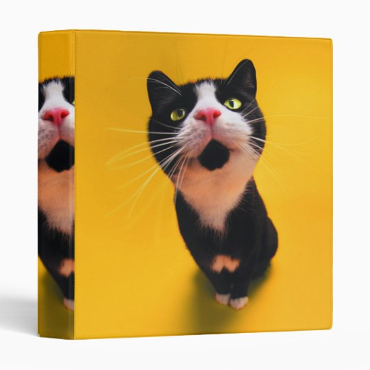 Black and white cat-tuxedo cat-pet kitten-pet cat vinyl binder