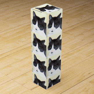 Black and White Cat Wine Box