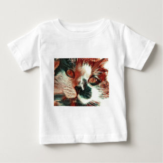 Black And White Cat With Digital Painting Effect Baby T-Shirt