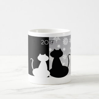 Black and White Cats in 2017 Mug