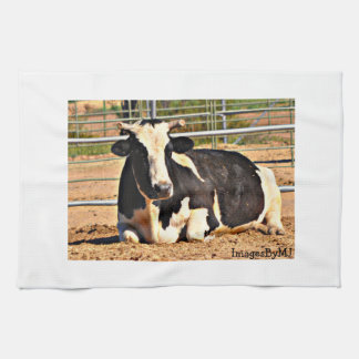Black and White Cattle Towel