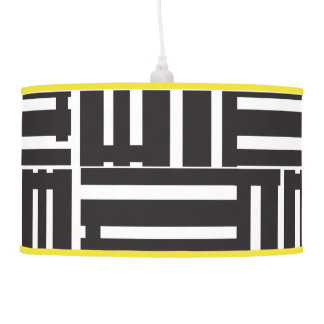 Black and white ceiling lamp lines
