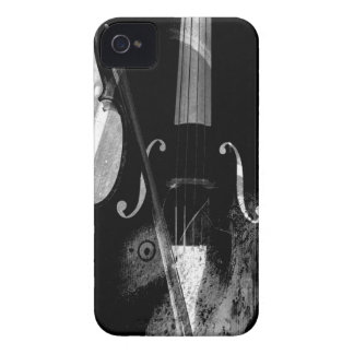 Black and white cello illustration iPhone 4 cover