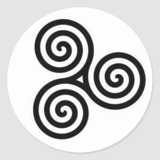Black and White Celtic triple-circle sticker
