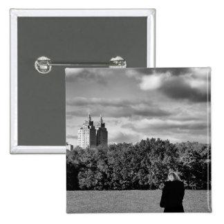 Black and White Central Park Landscape Photo Pins