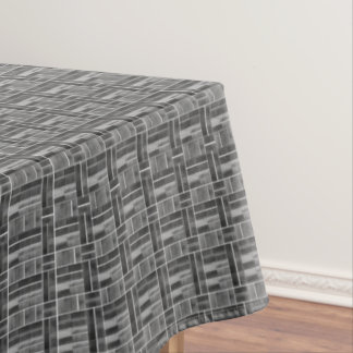 Black and white ceramic tiles look pattern tablecloth