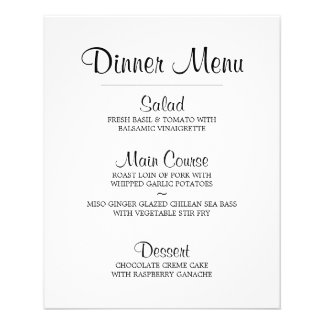 Black and White Chalkboard Damask Pattern Flyer