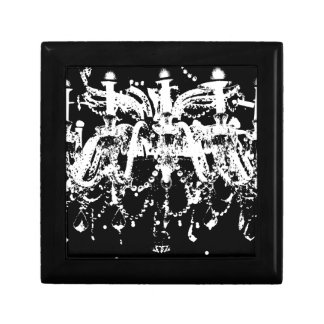 Black and White Chandelier Gift Box