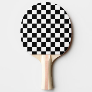 Black and White Check pattern Ping-Pong Paddle