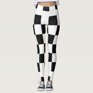 Black and White Checked Leggings