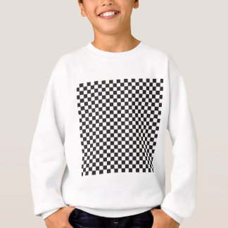 Black and White Checker Board Checks Sweatshirt