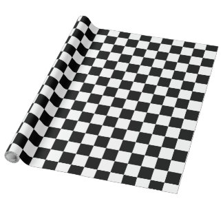 Black and White Checker Board - Wrapping Paper