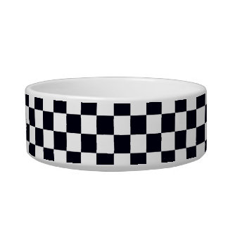Black and White Checker Pattern Bowl