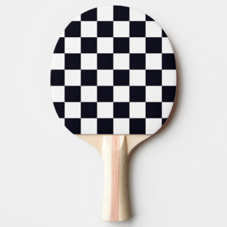 Black and White Checker Pattern Ping Pong Paddle