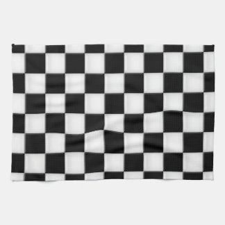 Black and White Checker patterns Kitchen Towel