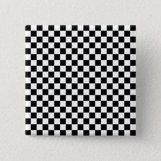 Black and White Checkerboard 2 Inch Square Button