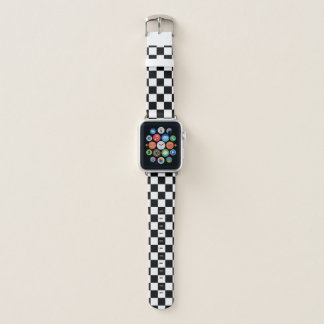 Black and White Checkerboard Apple Watch Band