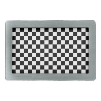Black and White Checkerboard Belt Buckle