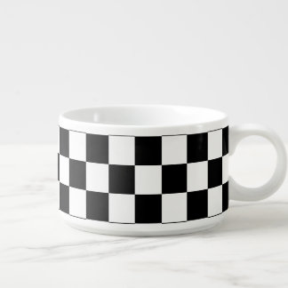 Black and White Checkerboard Bowl
