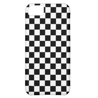 Black and White Checkerboard Case For iPhone 5C