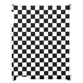 Black and White Checkerboard Case For The iPad 2 3 4