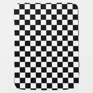 Black and White Checkerboard Checkered Flag Baby Blanket