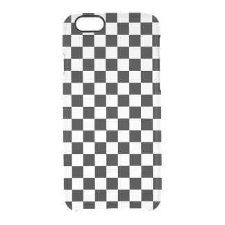 Black and White Checkerboard Clear iPhone 6/6S Case