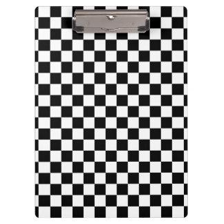 Black and White Checkerboard Clipboard