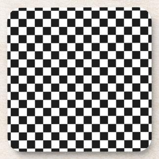 Black and White Checkerboard Coaster