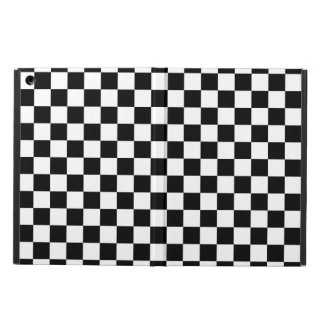 Black and White Checkerboard Cover For iPad Air