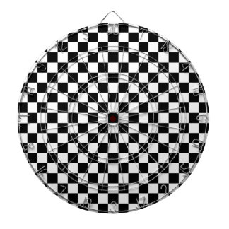 Black and White Checkerboard Dartboard
