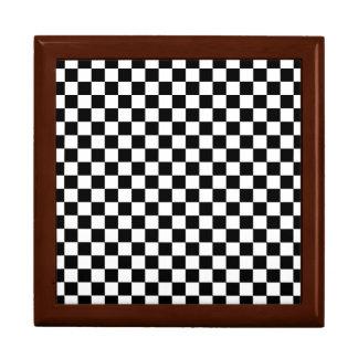 Black and White Checkerboard Gift Box