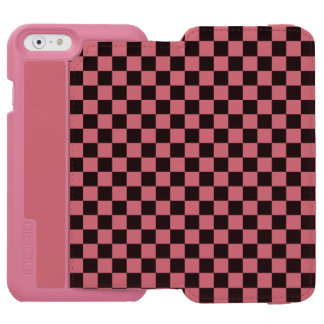 Black and White Checkerboard Incipio Watson™ iPhone 6 Wallet Case