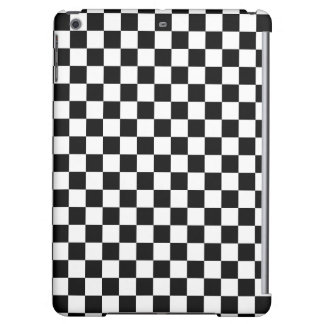 Black and White Checkerboard iPad Air Cover
