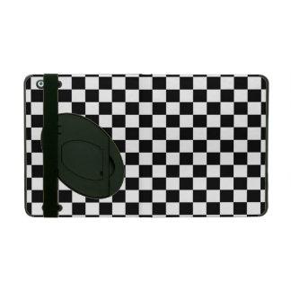 Black and White Checkerboard iPad Folio Case