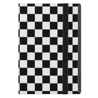 Black and White Checkerboard iPad Mini Case