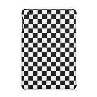 Black and White Checkerboard iPad Mini Cover
